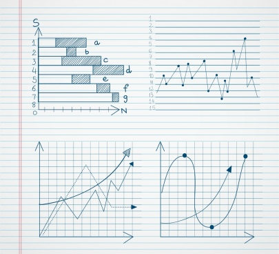 graph templates collection bars lines types handdrawn sketch
