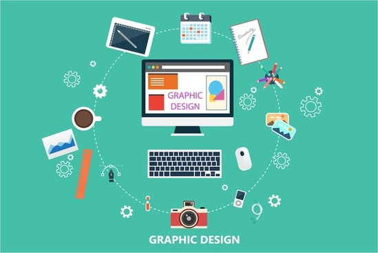 graphic design concepts with circle infographic illustration
