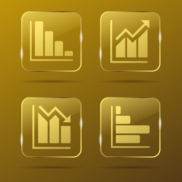 graphs gold buttons