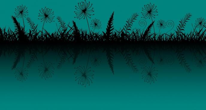 grass background dark blue design reflection style