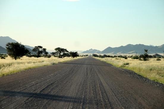 gravel road dirt road lonely