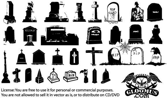 vector gravestone free vector download  11 free vector halloween cemetery clipart Black Halloween Pumkins