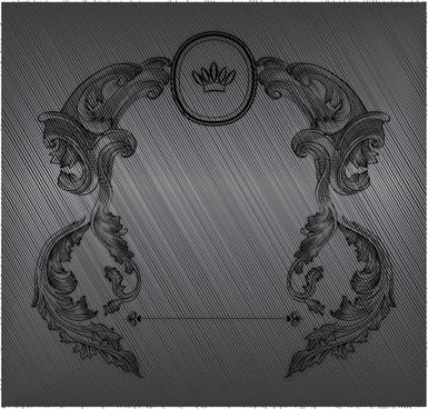 document decorative element template european retro handdrawn symmetry