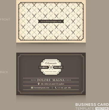 gray business card template vector