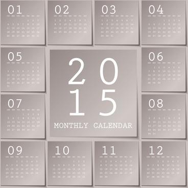 gray calendar15 notes style vector