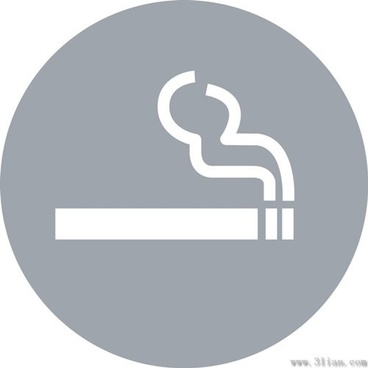 gray cigarette icons vector