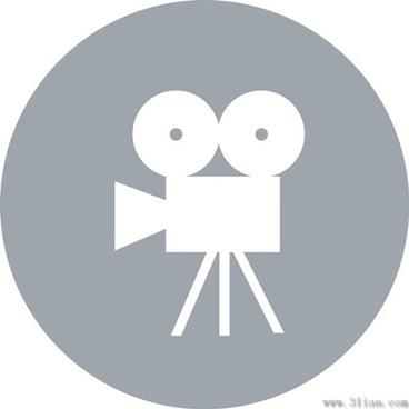 gray cinematography icon vector