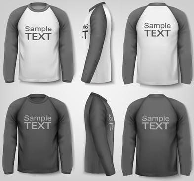gray man t shirt vector template