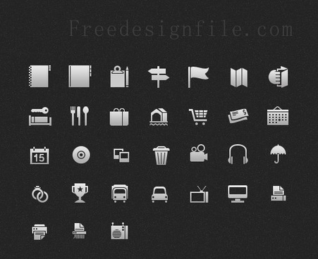 gray mini web icon psd