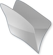 Gray open folder