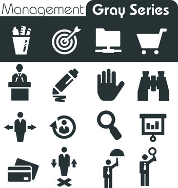 gray series social icons vector set
