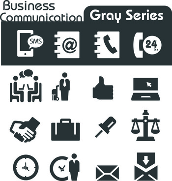 gray series social icons vector set