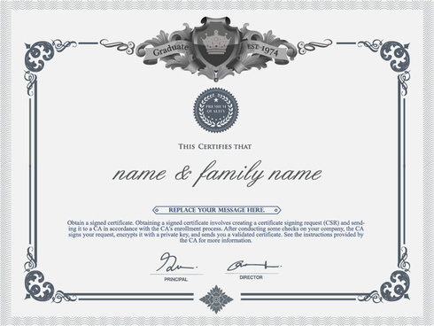 diploma template free vector download 14 927 free vector for