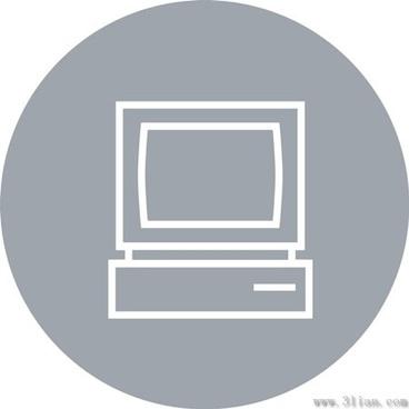 gray television icon vector