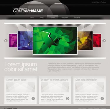 gray vector website templates design elements