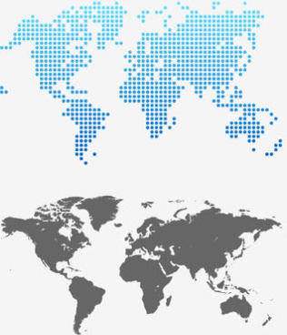 gray world map design vector