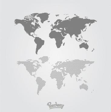 gray world maps