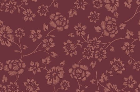 flowers pattern classical dark repeating style