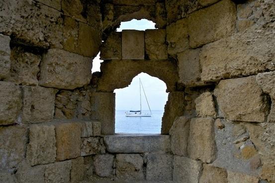 greece wall stone