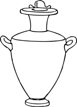 Greek Amphora Pottery clip art