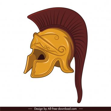 greek armor icon elegant retro sketch