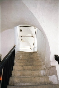 greek house staircase in greece