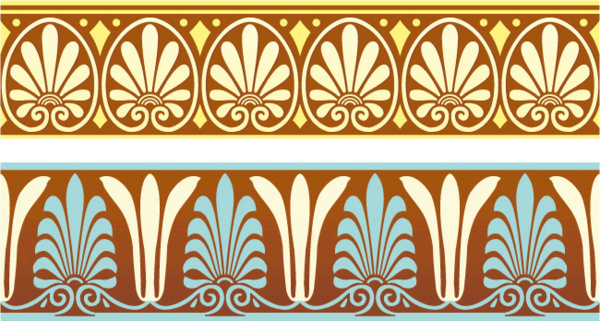greek ornament pattern borders vector