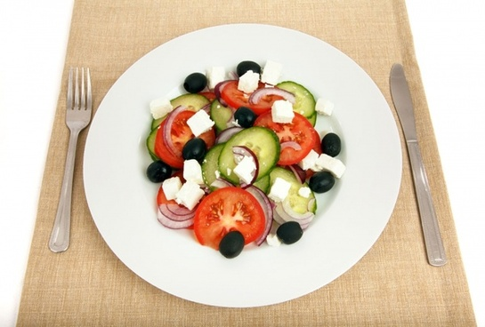 greek salad on plate