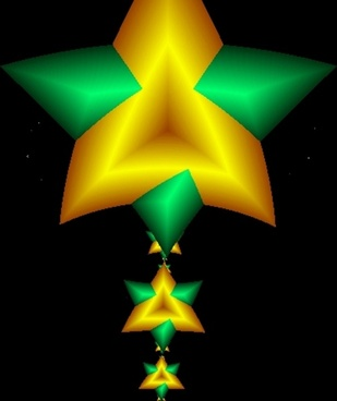 green and gold star