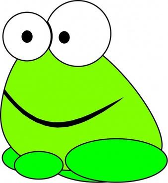 green animal the frog