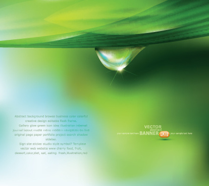 green background with water drop vector