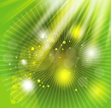green background with yellow light