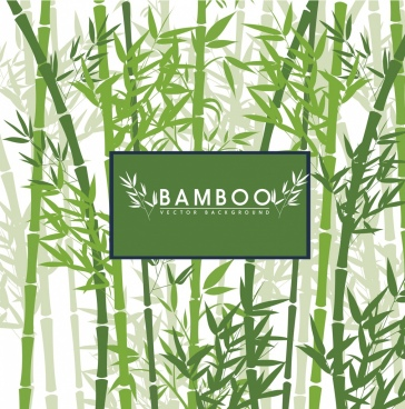 green bamboo background silhouette decoration