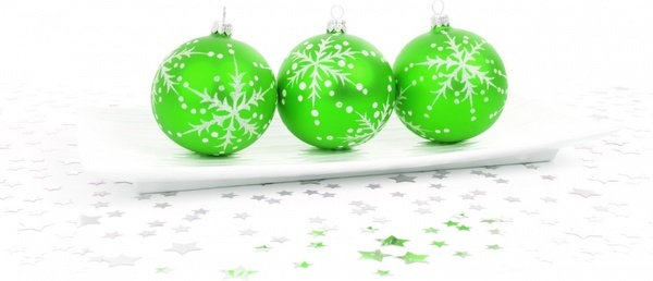 green bauble decoration