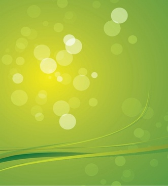 Green Bokeh Abstract Light Background Vector Graphic