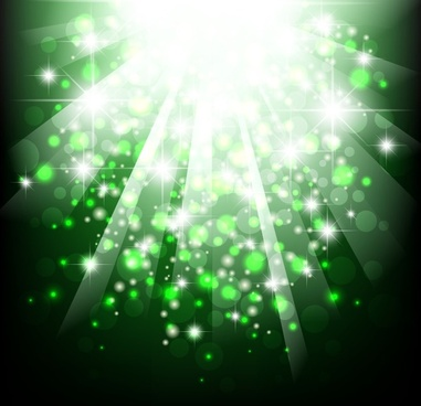 green bokeh light background vector illustration