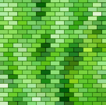 green brick wall texture background vector