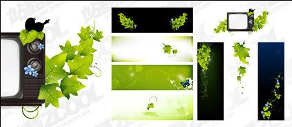 Green butterfly TV vector material