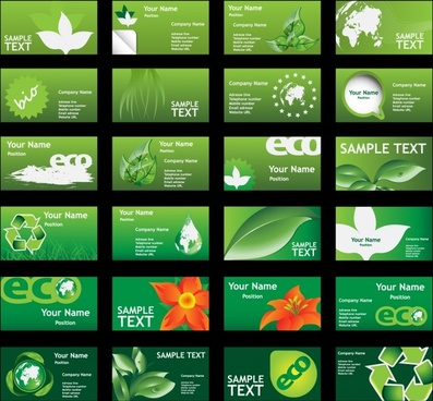 ecology background collection modern shiny green symbols decor