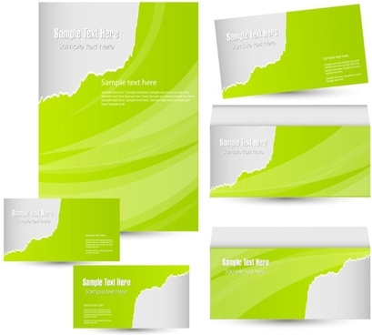 green card template 02 vector