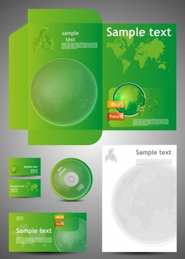 green card template 05 vector