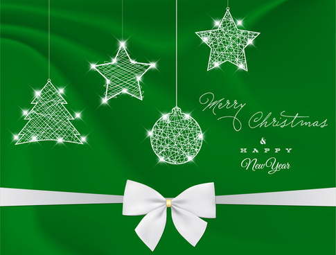 green christmas design decor element