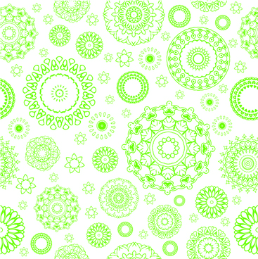 green circle flower pattern