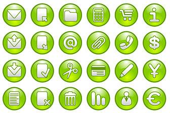 green circular icon