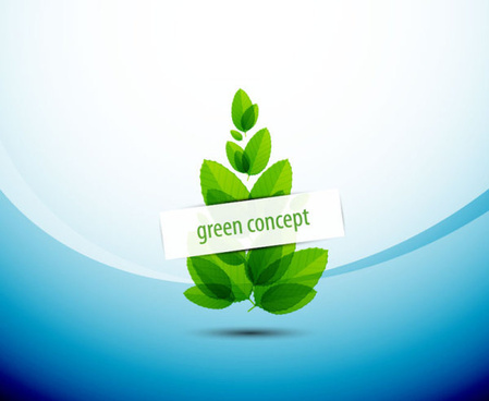 green concept eco elements backgorund vector