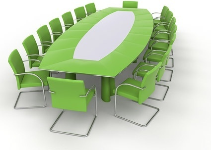 green conference table picture