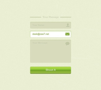 Green Contact Form (PSD)