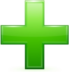 Green cross sign
