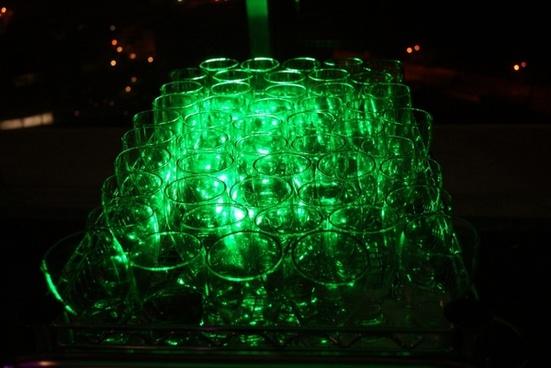 green crystal glass
