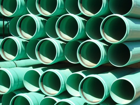 green culvert pipes